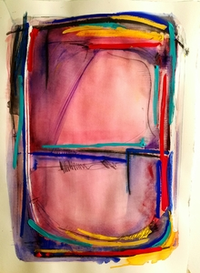 Melinda Zox  Works on paper 2012-2019 Watercolor, Gouache, Ink on Cold Press Paper