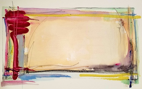 Melinda Zox  Works on paper 2012-2019 Watercolor, Gouache, Pencil, Ink, Cold Press Paper