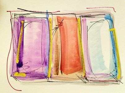 Melinda Zox  Works on paper 2012-2019 Watercolor, pencil ,Cold press paper
