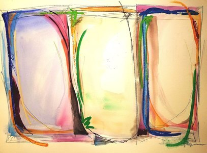 Melinda Zox  Works on paper 2012-2019 Watercolor, Gouache, Acrylic  cold press paper