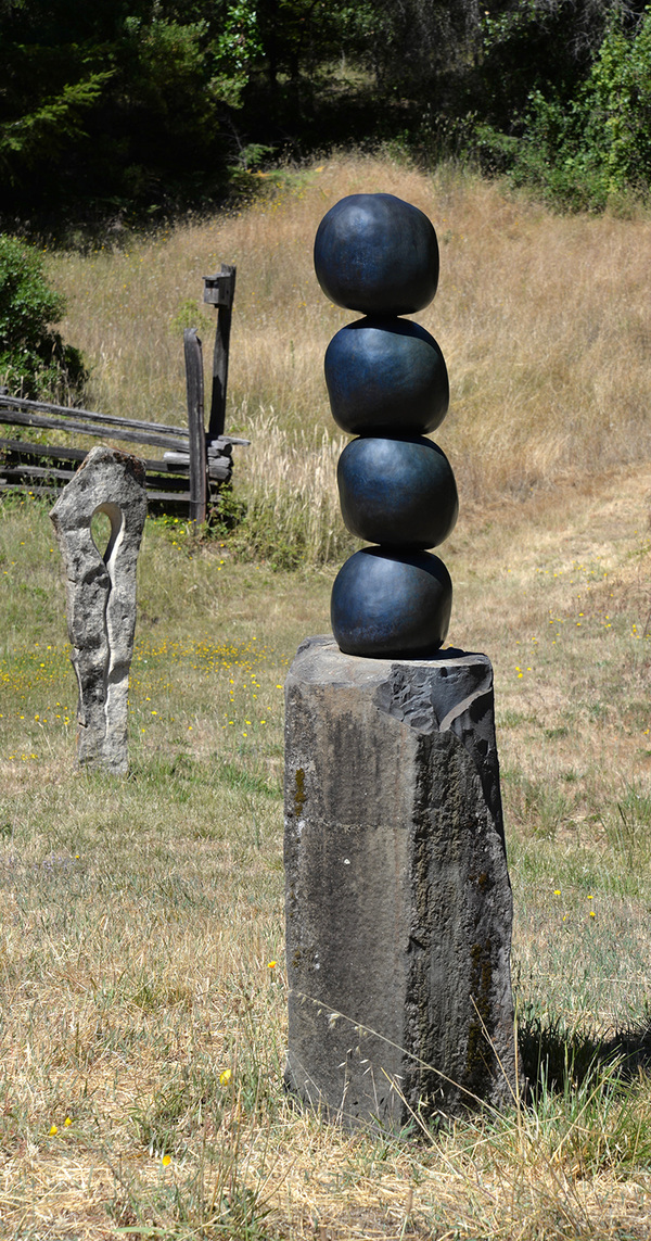 Rebecca Johnson Painting and Sculpture stone and  bronze bronze, basalt
