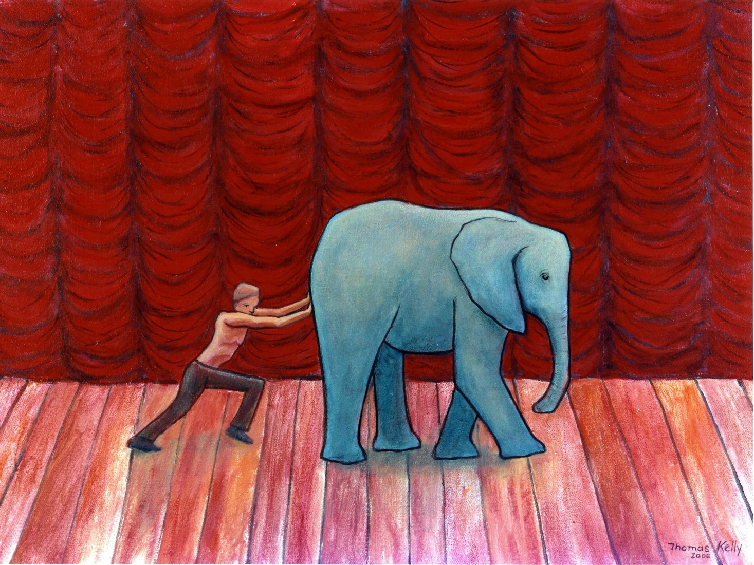 Collected Paintings Pushing the Elephant