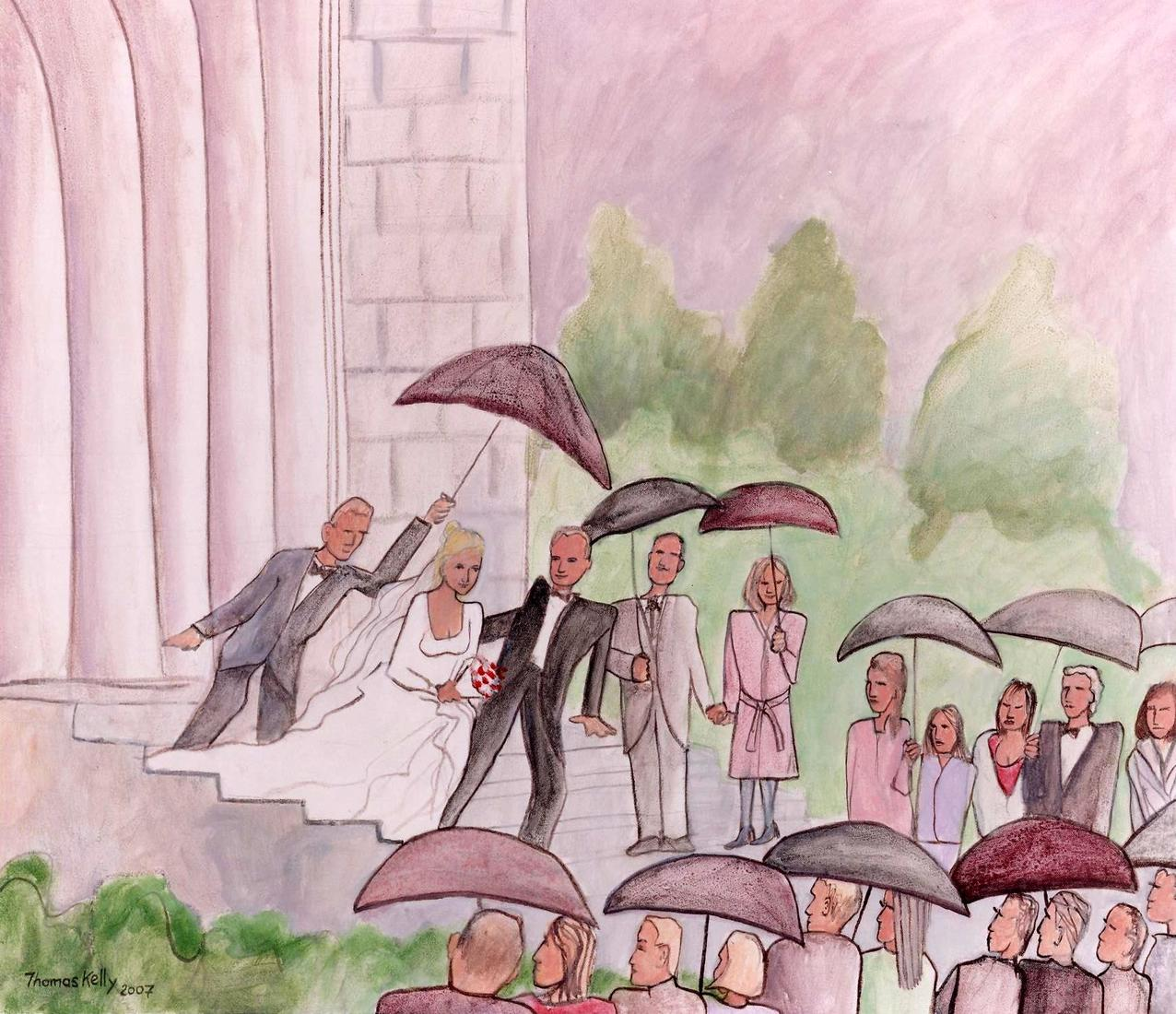 Collected Paintings Rain on the Wedding Day