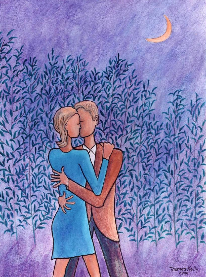 Collected Paintings Kiss Under a New Moon (24×18)