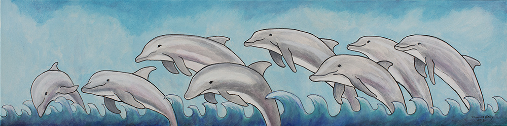 Available Paintings Dolphins