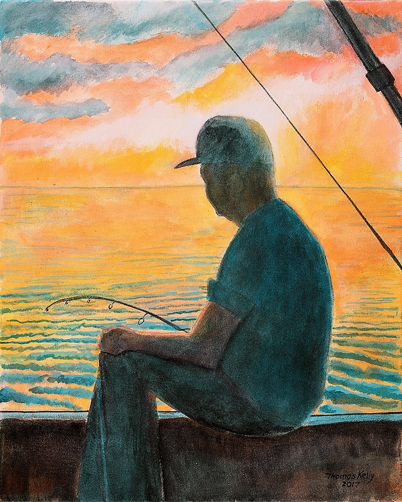 Commissioned Paintings The Fisherman