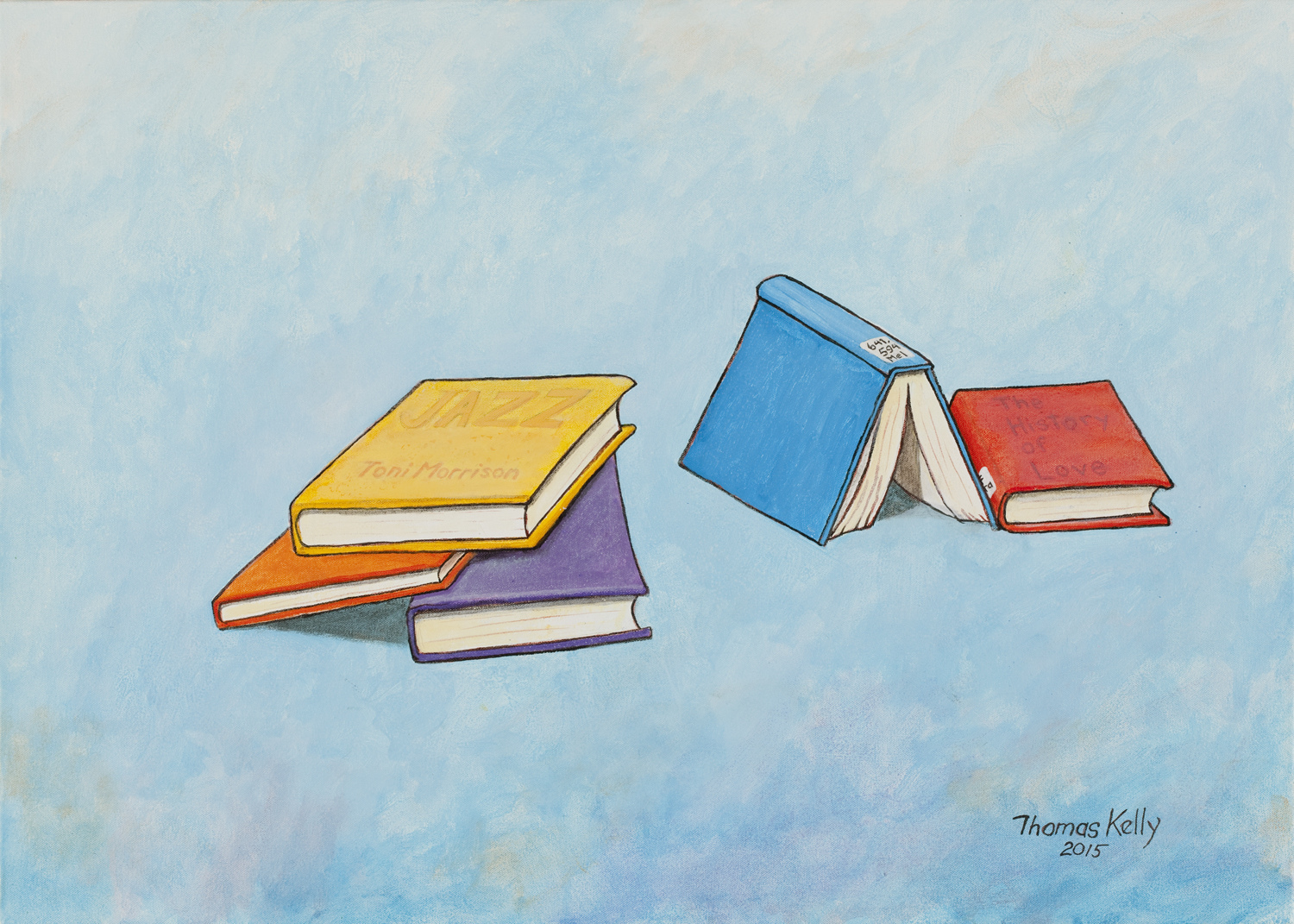 Commissioned Paintings Her Favorite Books