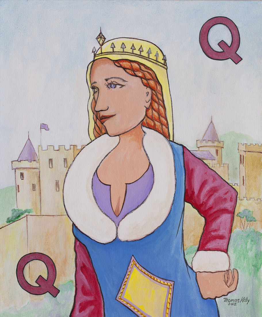 Commissioned Paintings The Queen of Diamonds