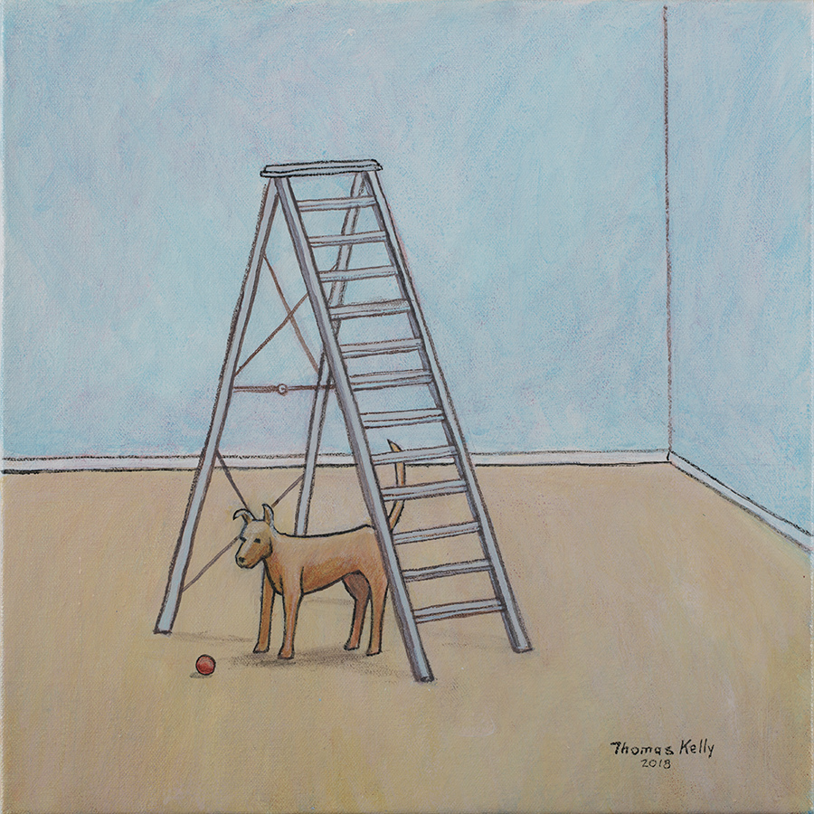 Collected Paintings Dog and the Ladder