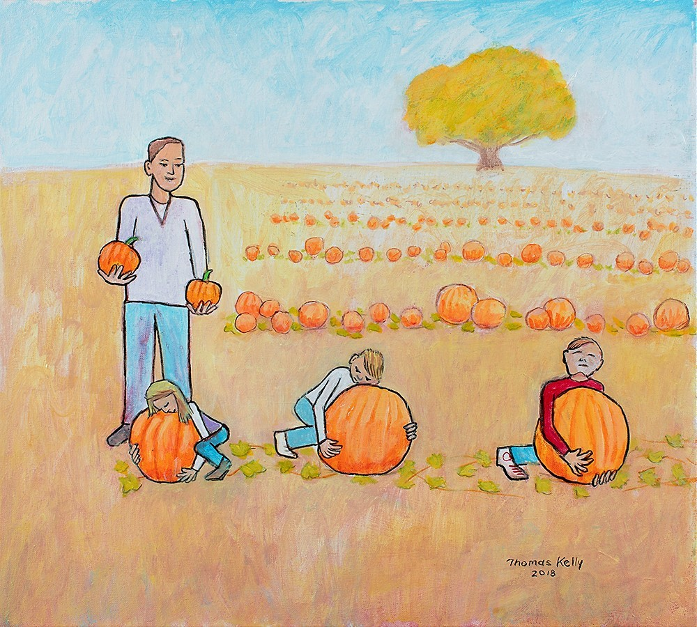 Collected Paintings Pumpkin Picking