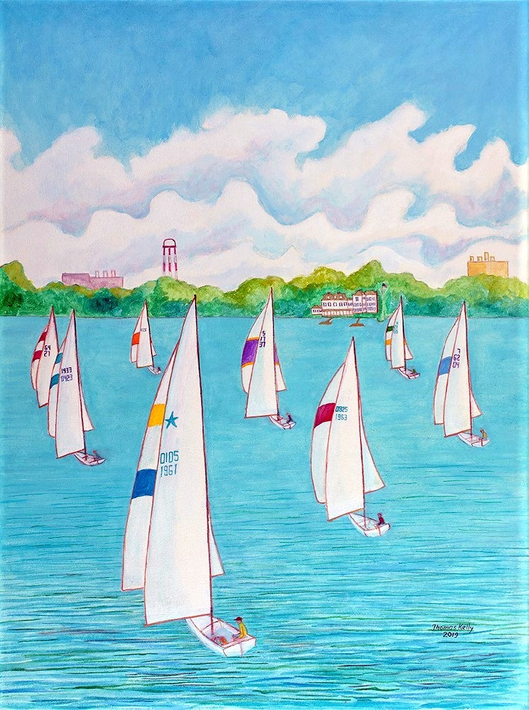 Commissioned Paintings Regatta, Corinthian Yacht Club, Philadelphia