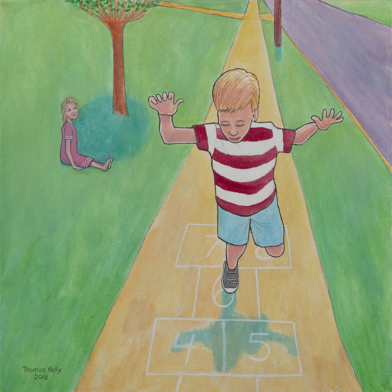 Commissioned Paintings Hopscotch