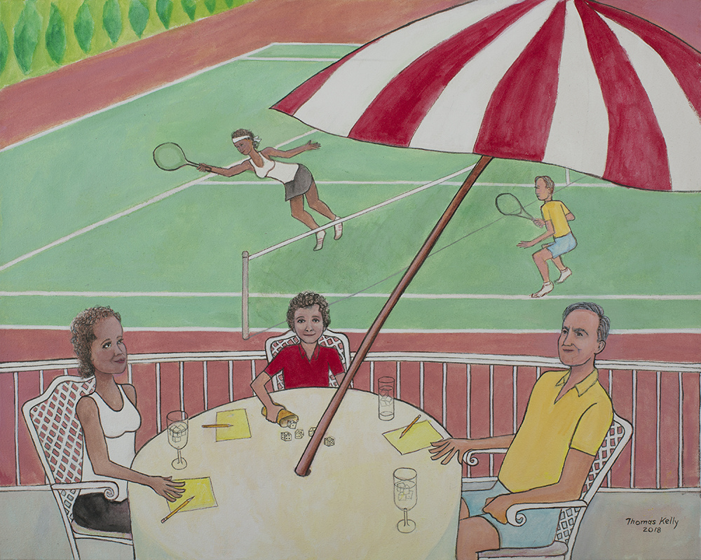 Commissioned Paintings The Tennis Match
