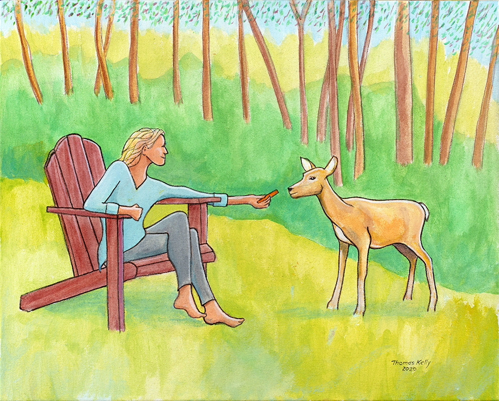 Collected Paintings Lucia and the Deer