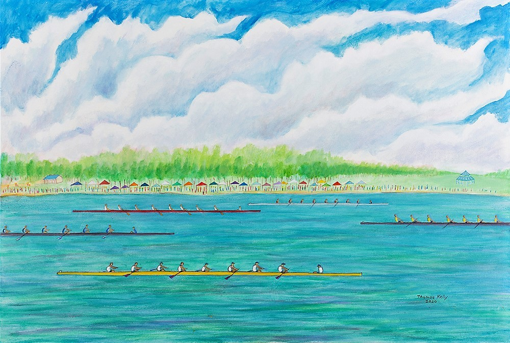 Collected Paintings Regatta on Mercer Lake