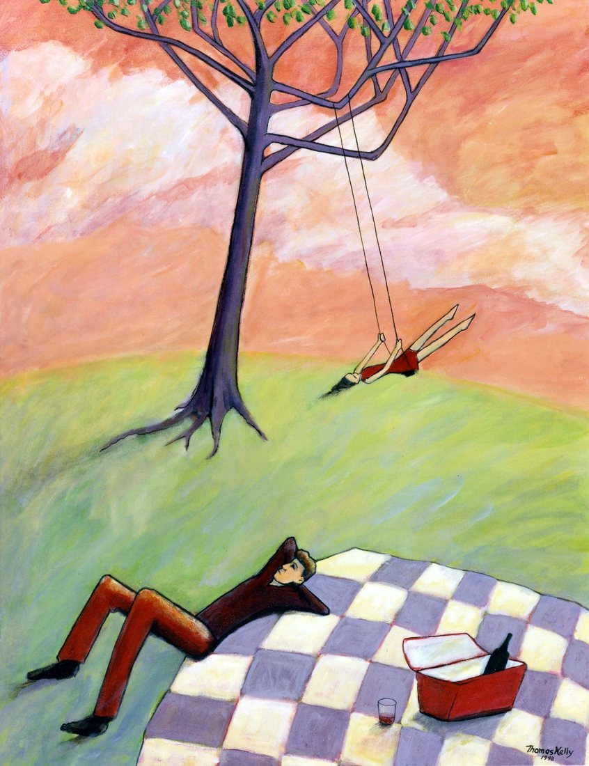 Collected Paintings Picnic at the Swing
