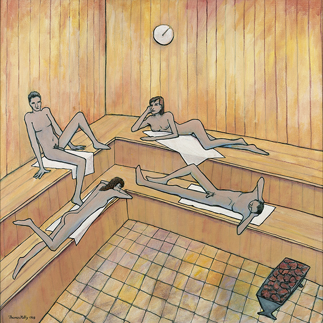 Available Paintings The Sauna