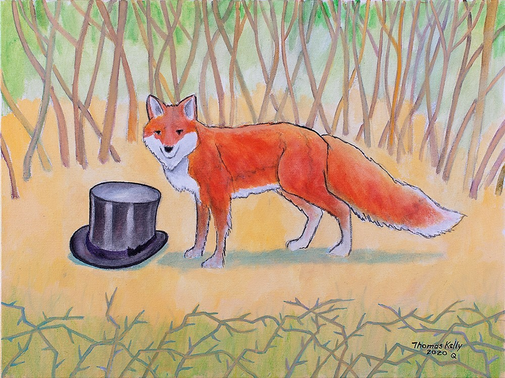 Collected Paintings Top Hat and Fox