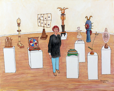 Portrait of Janis Purcell and her Sculpture